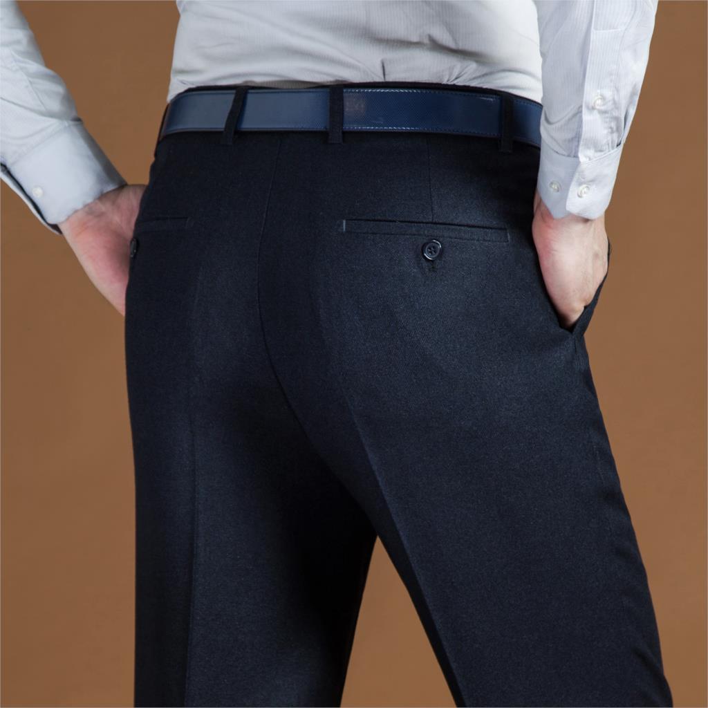 ICPANS Black Suit Pant For Men Loose Formal Wool Men Suit Pants Classic Straight Wedding Mens Dress Pants Big Size 42 44 2019