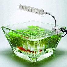 2.5 Вт 48LED AC110-220V аквариума свет лампы и гибкие клип на аквариум лампы, Сша подключите / ес разъем