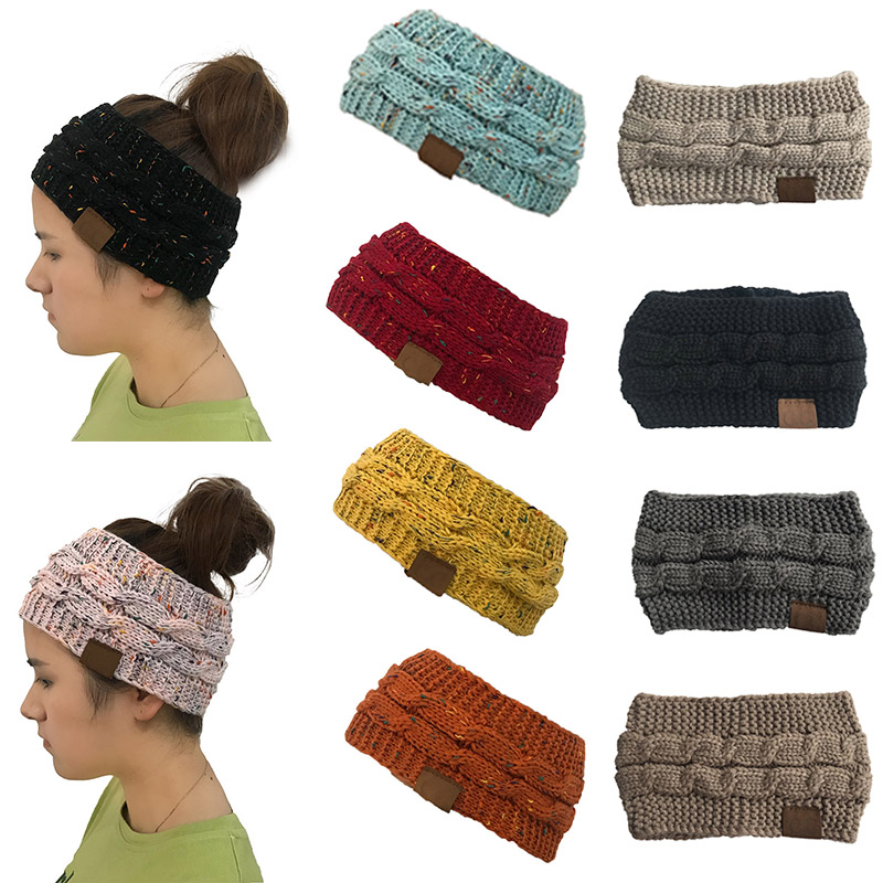Girl's Accessories Ey Women Girls Winter Knitted Twist Headband Ear Warmer Turban Solid Color Hairband Fast Color