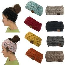 Headwear Knitted Crochet Twist Headband Turban Winter Ear Warmer Headwrap Elastic Hair Band for Women's Wide Hair Accessories