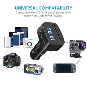 Image 5 - شاحن سيارة USB مزدوج 4 في 1 ، ميزان حرارة بشاشة رقمية ، شحن ولاعة سجائر ، شاحن سيارة ، شاشة رقمية للهاتف الخلوي