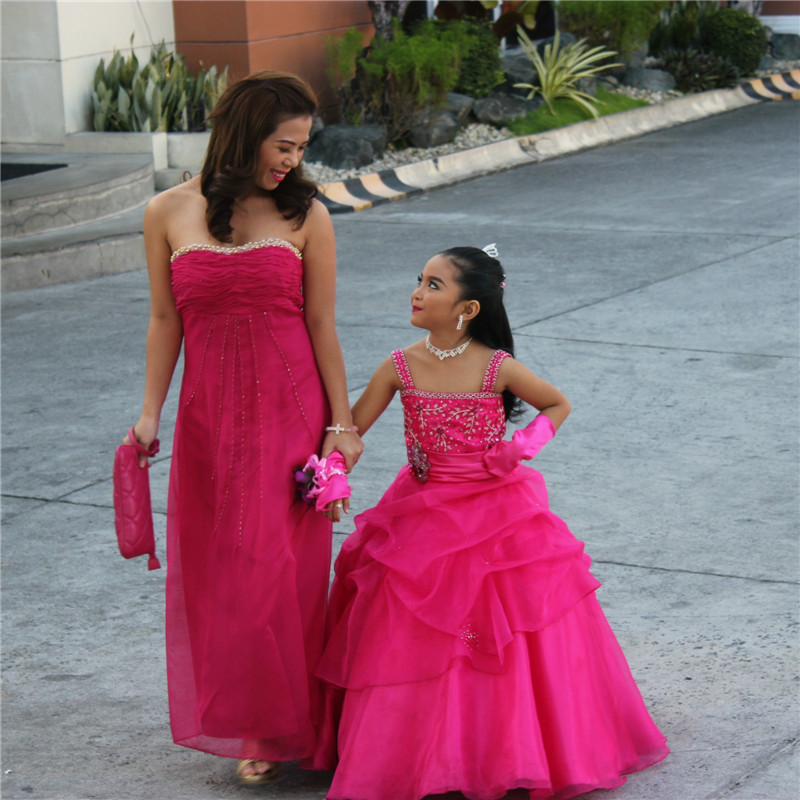 2019 Luxury Ball Gown Mother Daughter Dress Matching