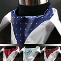 LJ02A hombres Venta Caballeros Elegantes Bufandas Corbata De Seda Corbata de Poliéster Corbata Ascot Corbata De Flores de Estilo Británico Para El Banquete de Boda