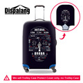 Dispalang relógio digital crânio bagagem capa protetora à prova d' água para 18-30 polegada de bonde mala homens elásticos acessórios de viagem