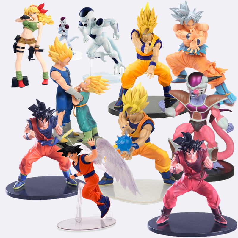 Dragon Ball Z Figurine Vegeta Trunks Goku Son Gohan Cell Frieza Lunchi ZERO Majin Buu Action Figures Collectible Toy 11-23cm