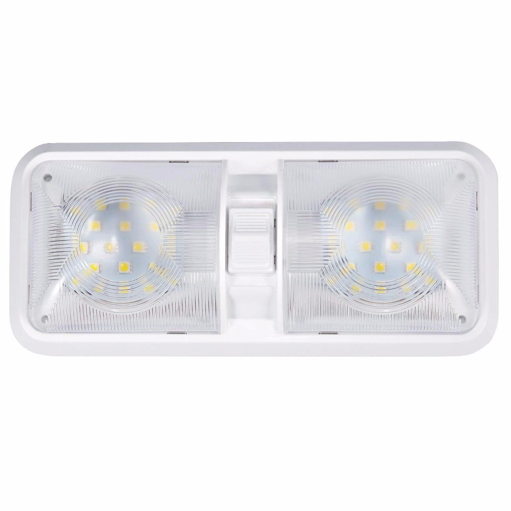 Eclairage 12v Led Camping Car Us 13 99 Kohree 6w 12v Car Ceiling Led Light Trailer Rv Camper Car Interior Lights Fixture Lighting Easy Installation Natural White In Wall Lamps
