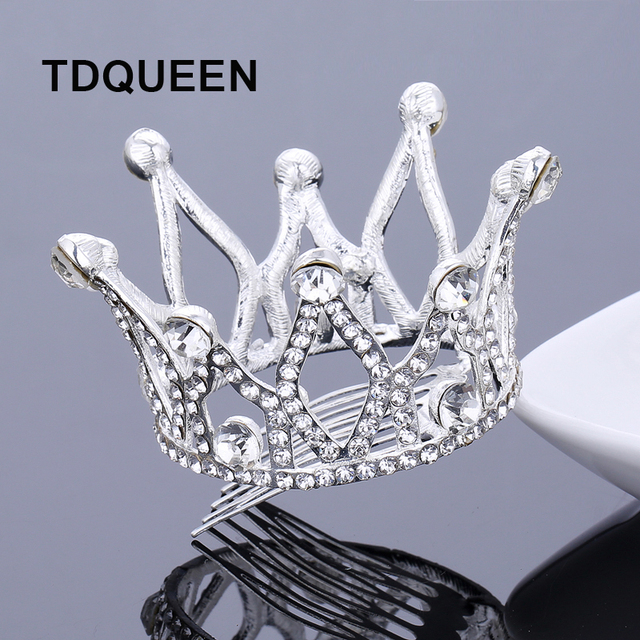 Medium Size Full Circle Bride Tiara Crown Wedding Pageant Tiara Bridal  Silver Plated Round Hair Comb Tiaras and Crowns 4d0baddeb684