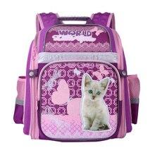 NEW 2017 School Bags for Girls Cute Cartoon Cat Dog Children School Backpack Orthopedics Night Reflective Schoolbag Grade 1-6