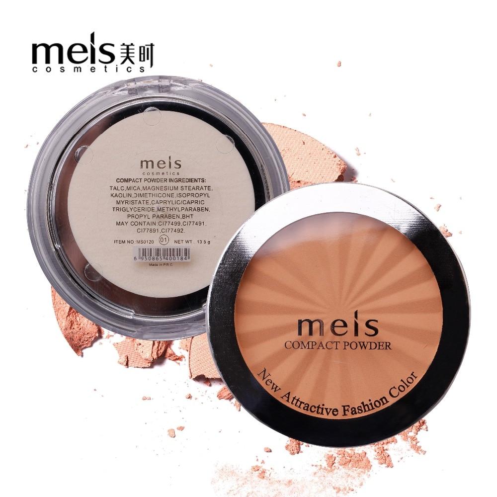 MEIS מותג קוסמטיקה מקצועית איפור פנים אבקת פנים קונסילר איפור קרן אבקה לחוץ אבקת Soft Smile MS0120