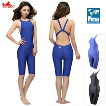 Yingfa FINA Approval Professional One-Piece Swimwear Women Swimsuit Sports Racing Competition Tight Bodybuilding Bathing Suit