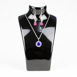 Tonvic 2 шт. прозрачный/белый/черный Пластик Цепочки и ожерелья бюст для ювелирных изделий серьги Дисплей подставка держатель высокое качество
