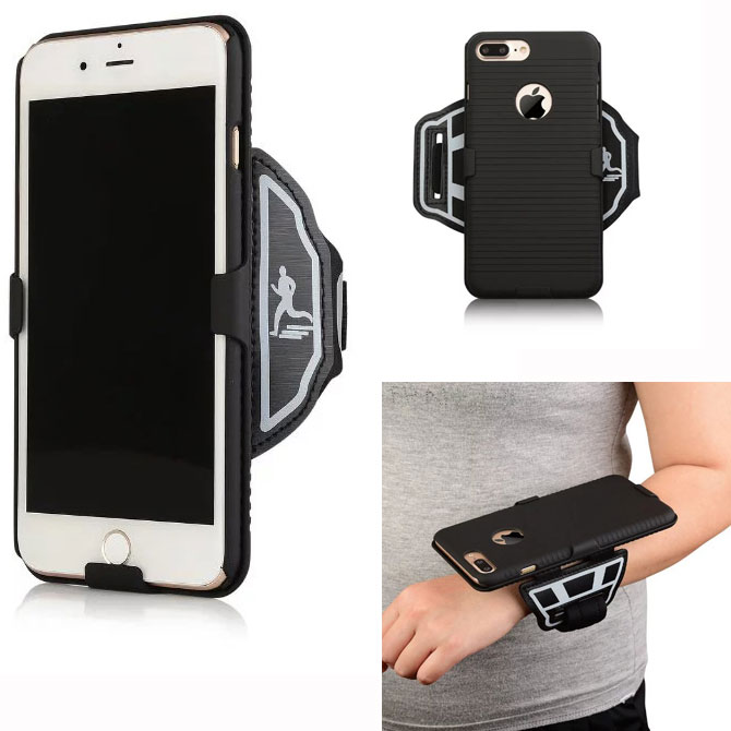 newest 2d909 a4541 US $12.79 |Premium Running Jogging Sports GYM Wrist band Wristband Case  Cover Holder For iPhone 6 6S 7 Plus-in Fitted Cases from Cellphones & ...
