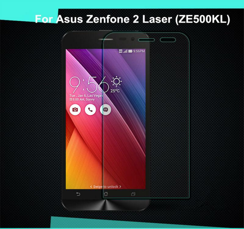 Ապահովիչ ապակու համար Asus Zenfone 2 լազերային ZE500KL Էկրանի պաշտպանիչ ապակեպատ ապակուց Asus Z00ED ZE ZE500 500 500KL KL դեպքում