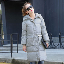 Free shipping brand Special offer 2016 Korean winter cotton loose female large size long coat outerwear in thickened knee padded