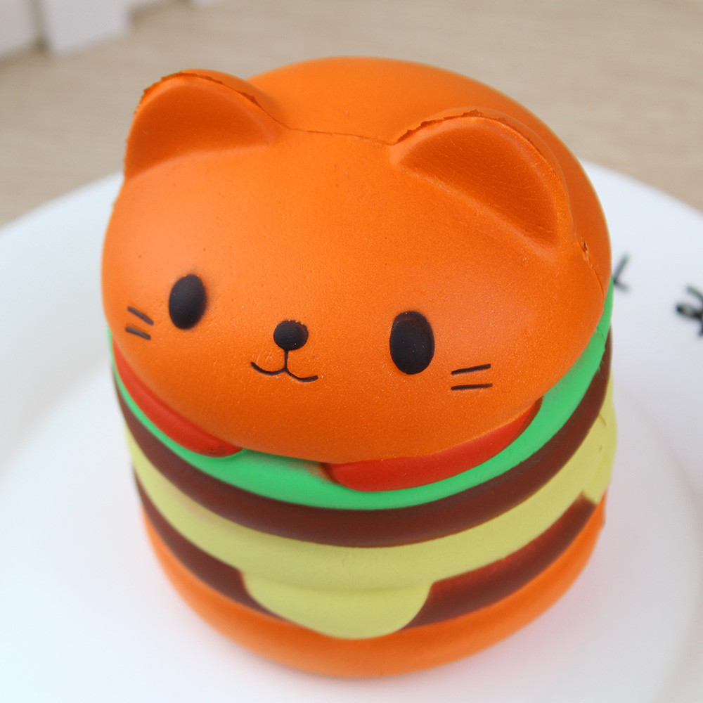 Antistress Squishy Toys For Children Slow Rising Scented Luky Cat Hamburger Squishy Gift Kawaii Squishies Stress Relieve17Nov30