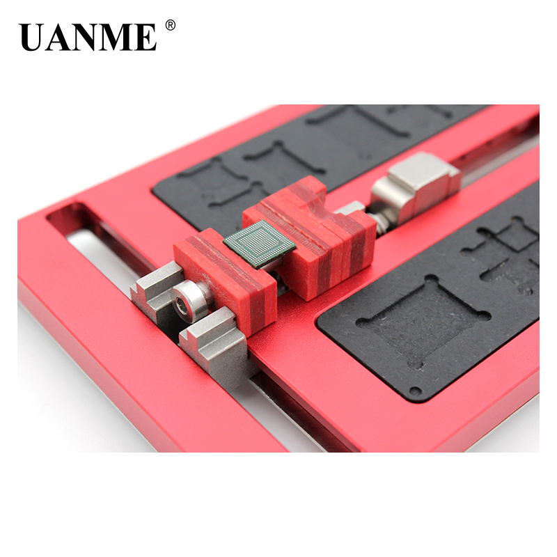 UANME Motherboard Clamps High Temperature Main Logic Board PCB BGA Fixture Holder for iPhoneA8 A9 A10 Plus Fix Repair Mold Tool