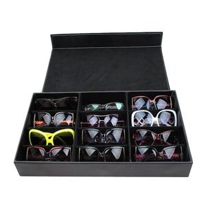 Image 4 - HUNYOO 12 Grid Sunglasses Storage Box Organizer Glasses Display Case Stand Holder Eyewear Eyeglasses Box Sunglasses Case