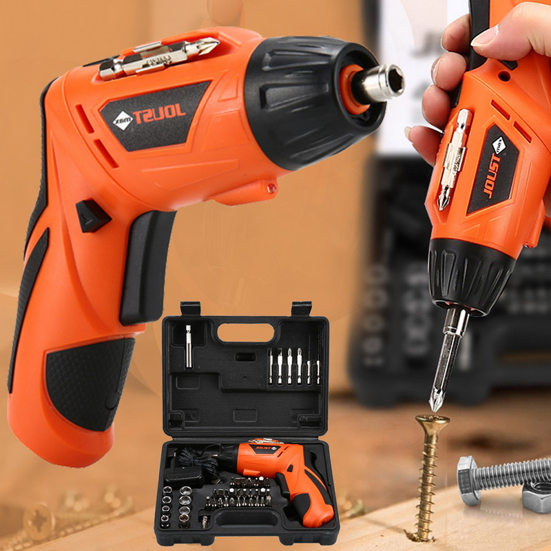 45 In 1 Wireless Electric Screwdrivers Rechargeable Hand Drill Kit For Screw Installation With LED Light 4.2V USB Cable Charging