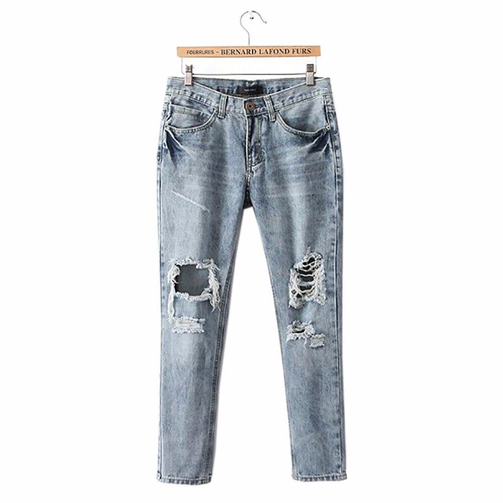tengo brand women high waist denim jeans pencil pants jeans femme boyfriend distressed ripped. Black Bedroom Furniture Sets. Home Design Ideas