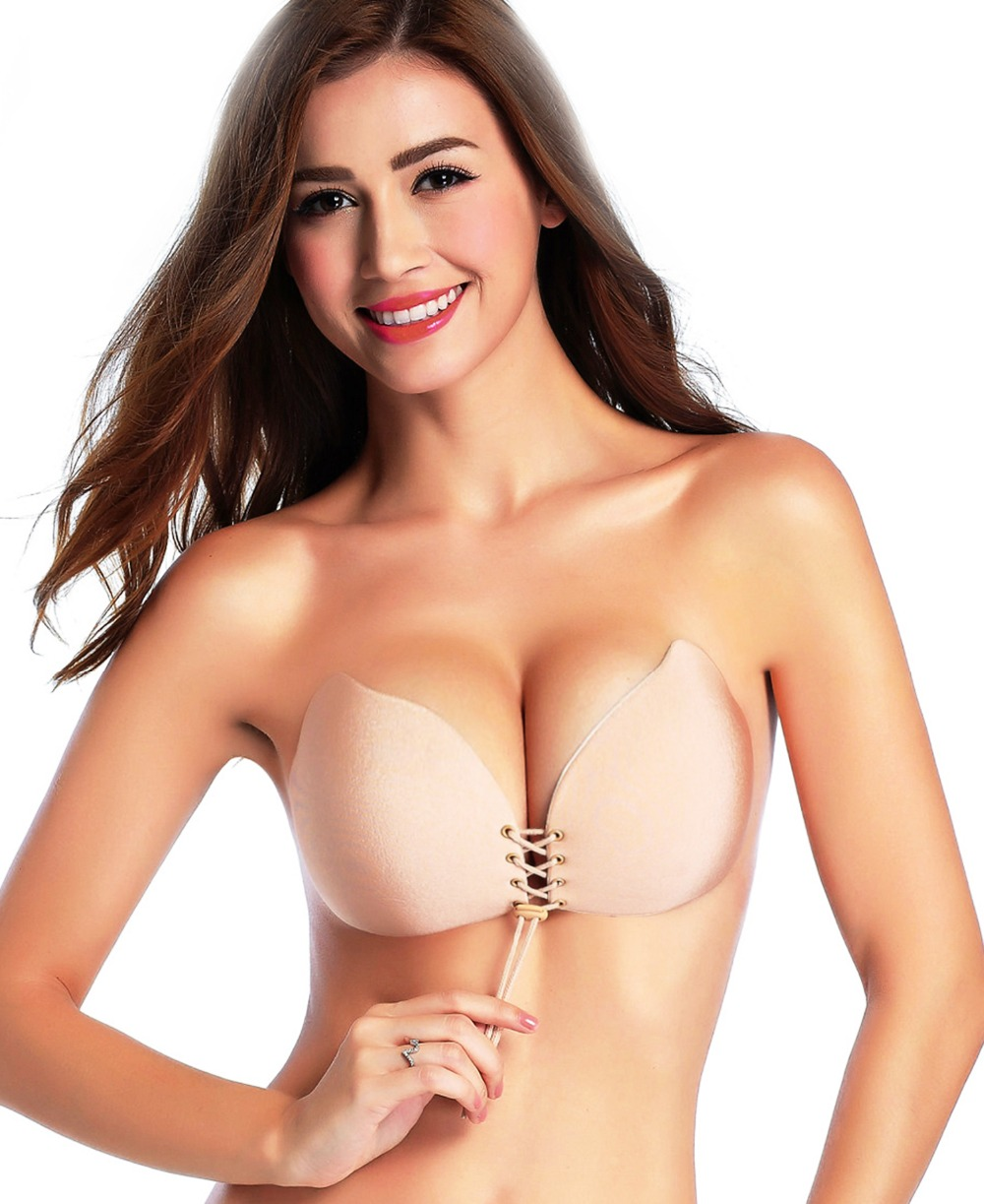 Удобная упаковка Новый стиль сексуальные девушки бесшовные груди уплотненные чашки бюстгальтера для Для женщин вечерние платье A B C D чашки