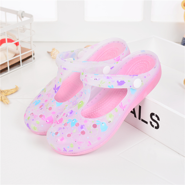 Candy Color Large Size Thick Sandals Woman Croc Anti-Skid Hole Jelly Rose  Flower Shoes 4e5544449a23