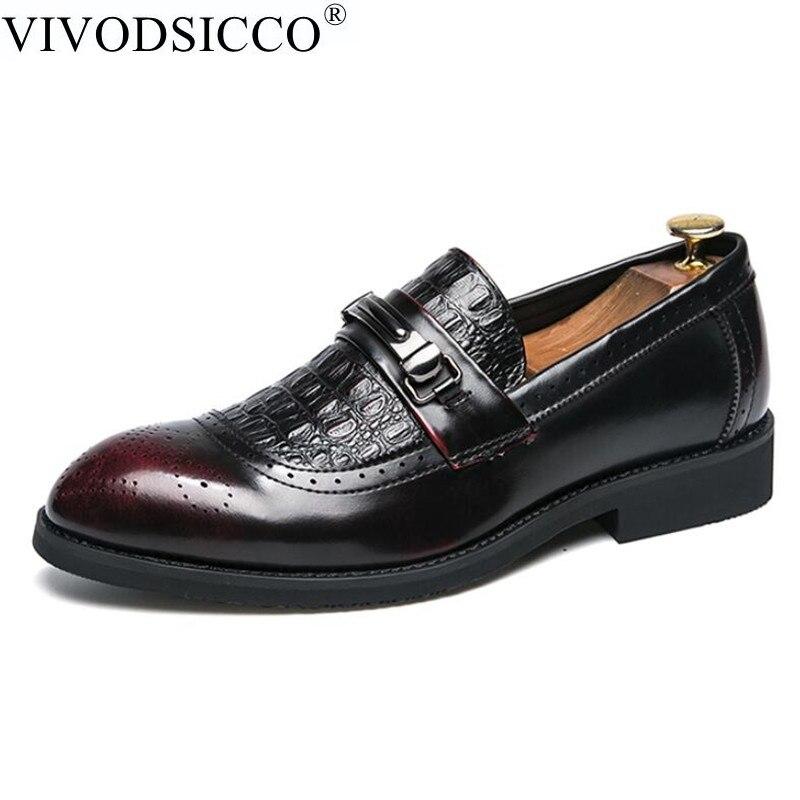Masculino Vestido Preto De Couro Toe Escritório Noiva Italianos Homens Apontou Formais vermelho Sapatos Brogue Homme Negócios Casuais Mocassins Mocassin xq4AnxvT8w