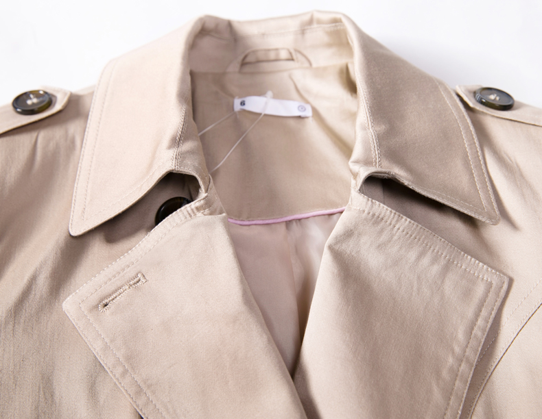 757fae86ec7fe 2015 Autumn New Fashion Women Trench Coat Plus Size Slim Duster Coat Casual  Black Gary Beige Outwear Ladies Long Coats Zb15924-in Trench from Women s  ...