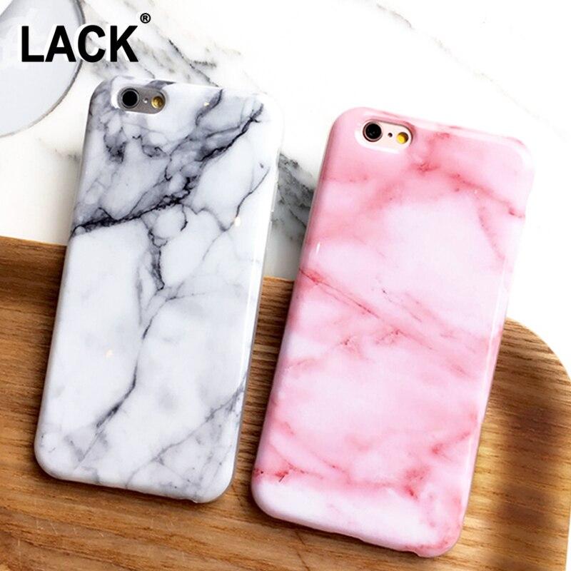 Lack imd de lujo case para iphone 7 case moda de mármol granito Piedra lisa Patr
