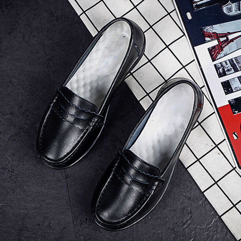 White De 2017 Slip En Spp Quatre Casual 8016 Travail Chaussures Collier Coussin Femmes Respirant Maman Cuir black Saisons ttaqB