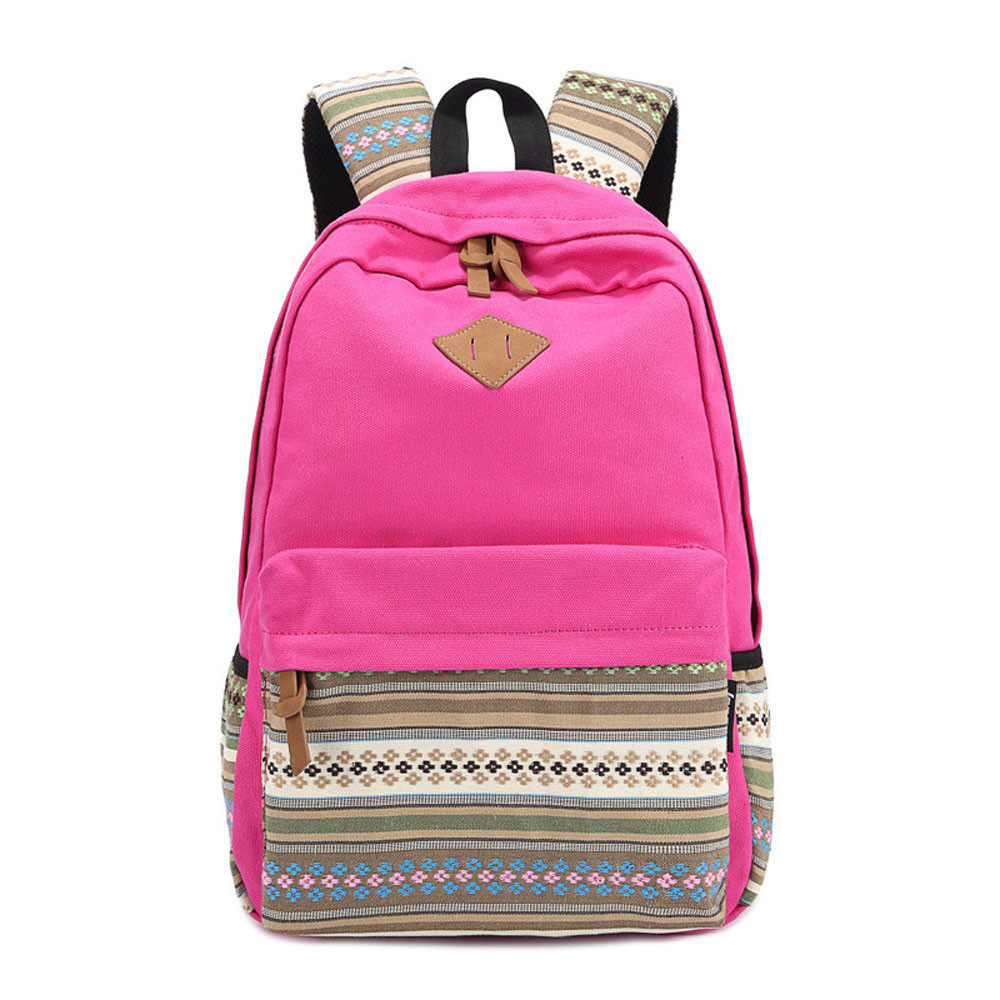 Hot sale Canvas Woman Backpacks School Floral Printing Satchel Clutch Brand new Rucksack Bags Girls Female