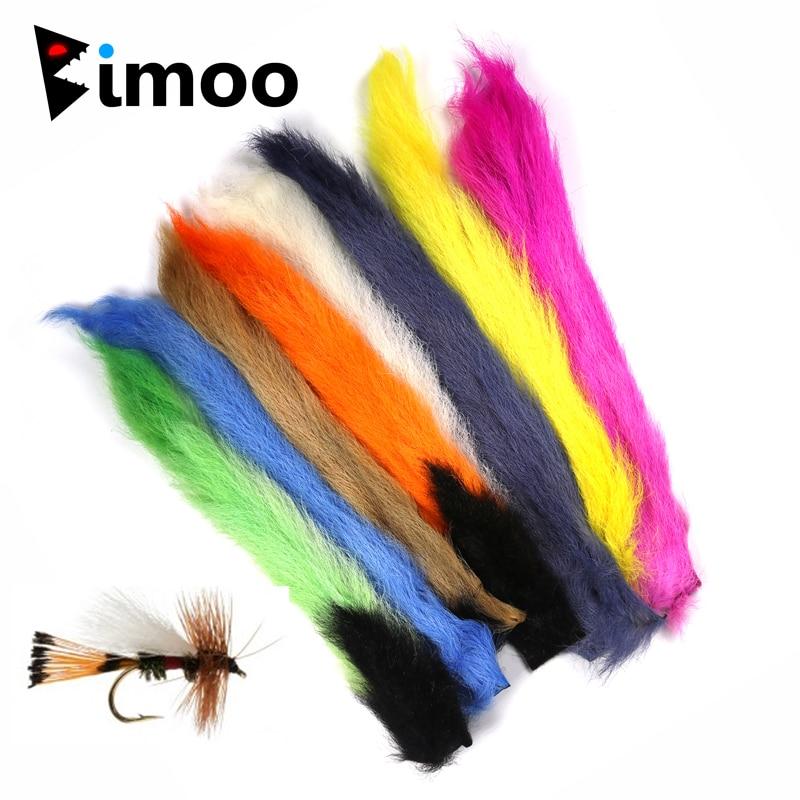 Bimoo 1PC Kalb Schwanz Dry Fly Material für Fliegen Binden Flügel Material Haar Flügel Fallschirme Trudes Trockenen Fliegen, Der multi-farben