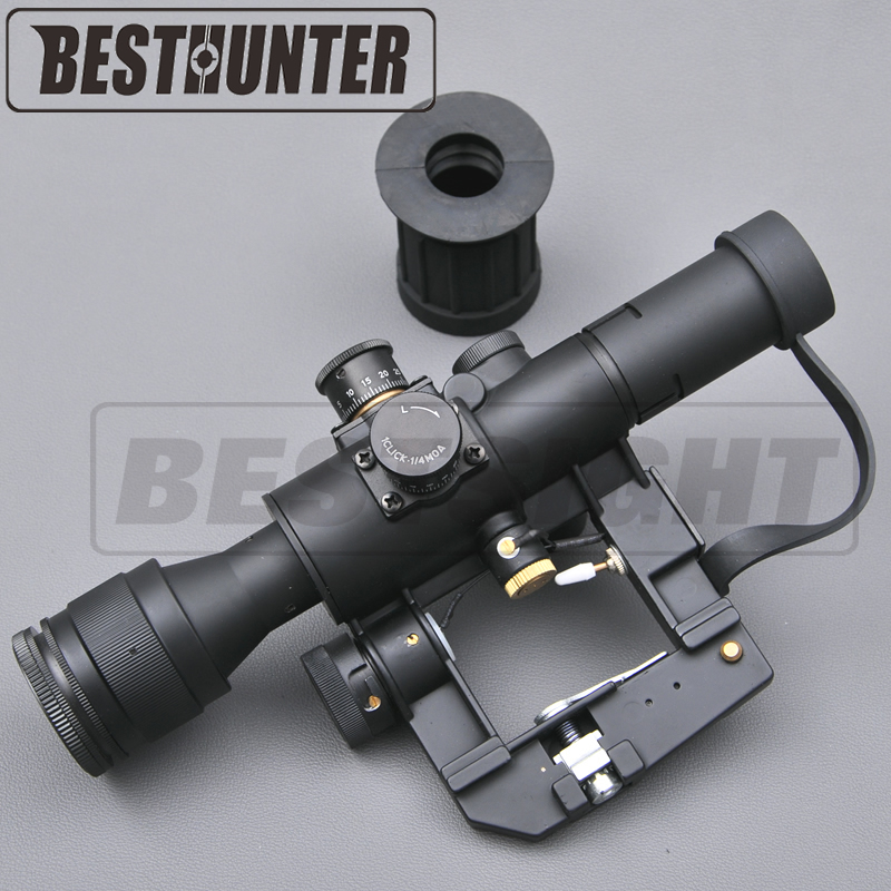 Optics Riflescope SVD Dragunov Tactical 4x26 Red Illuminated Rifle Scope Softair Red Dot Tactical Sight Rifle Scope Mounts 32mm vacuum cleaner parts pet brush silicone brush dog brush
