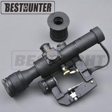 Ottica Mirino SVD Dragunov Tactical 4×26 Red Illuminata Portata Del Fucile Softair Red Dot Tactical Sight Monti Rifle Scope