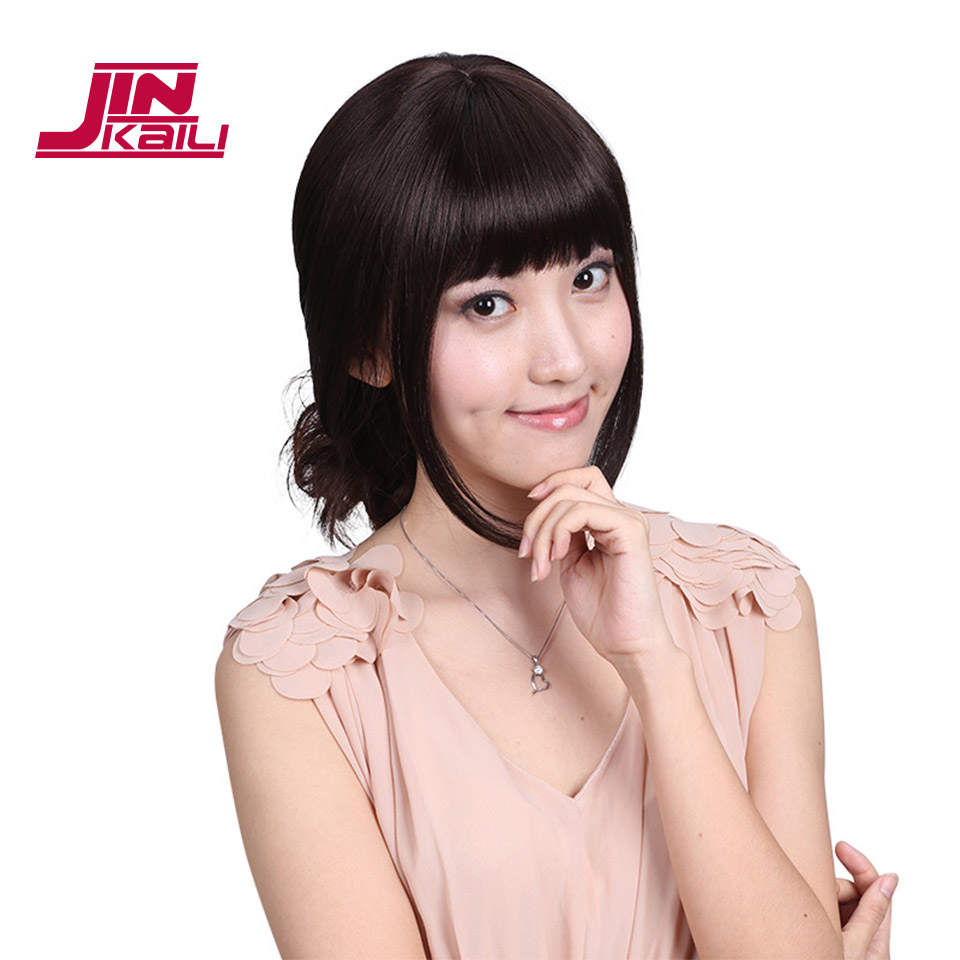 Jinkaili Wig Bangs Fringe Hair Extensions Bang Synthetic Hairpieces