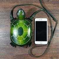 Handmade genuine Leather shoulder Bag Cute Cartoon tortoise Bag Cowhide mini messenger bag