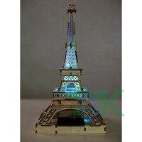 Hot Selling 3D wooden Paris Eiffel Tower Figurine Statue Model Home Decors Souvenir Environmental Solar models creative gift