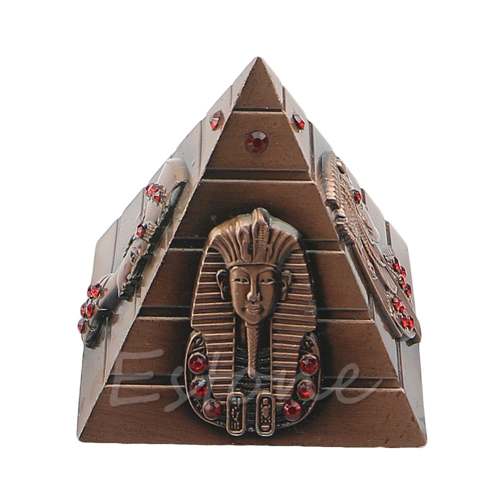Antique:  Egyptian Pharaoh Home Decorative Avatar Camel Metal Rhinestone Pyramids Antique 4 Colors - Martin's & Co