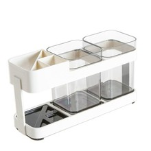 BF050 Simple Fashion plastic toothbrush double rack holder, wash gargle cup set of creative lovers