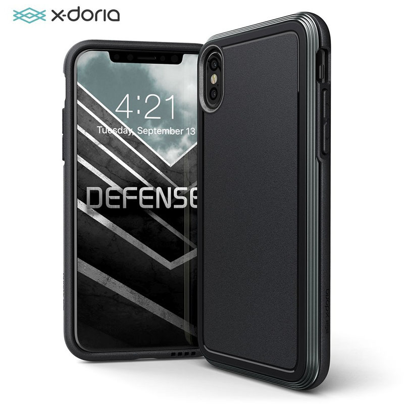 X-doria Défense Ultra Pour iPhone XS X De Qualité Militaire des Essais de Chute Pour iPhone XS X aluminium Housse De Protection Coque