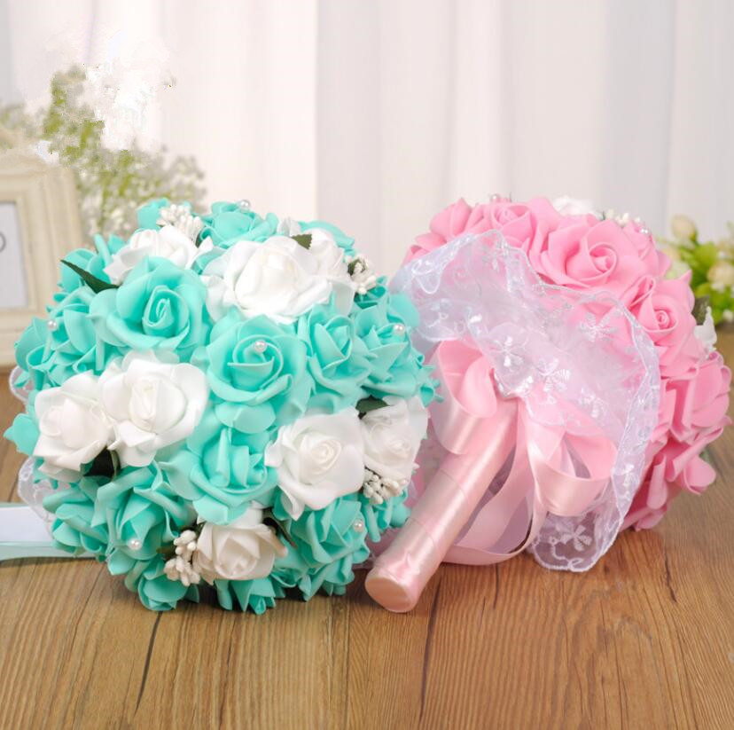 Romantische Hochzeit Bunte Braut Bouquet Rot Rosa Blau Und Lila Braut Bouquetss Lila S135 Sonnig Ayicuthia Braut Mit Blumen