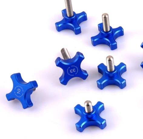 6PCS/LOT . M6X10MM Diameter:32mm  hand screw bolt stainless steel CNC machining head