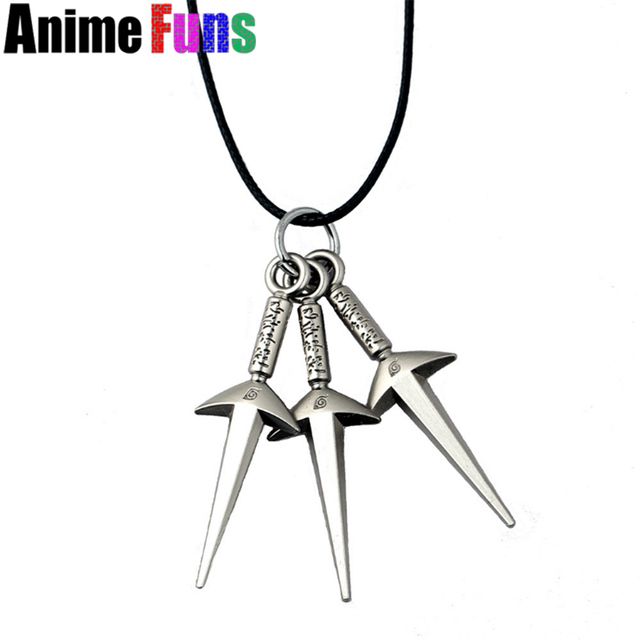 Anime Naruto Namikaze Minato Hand Sword Model Logo Pendant Necklace