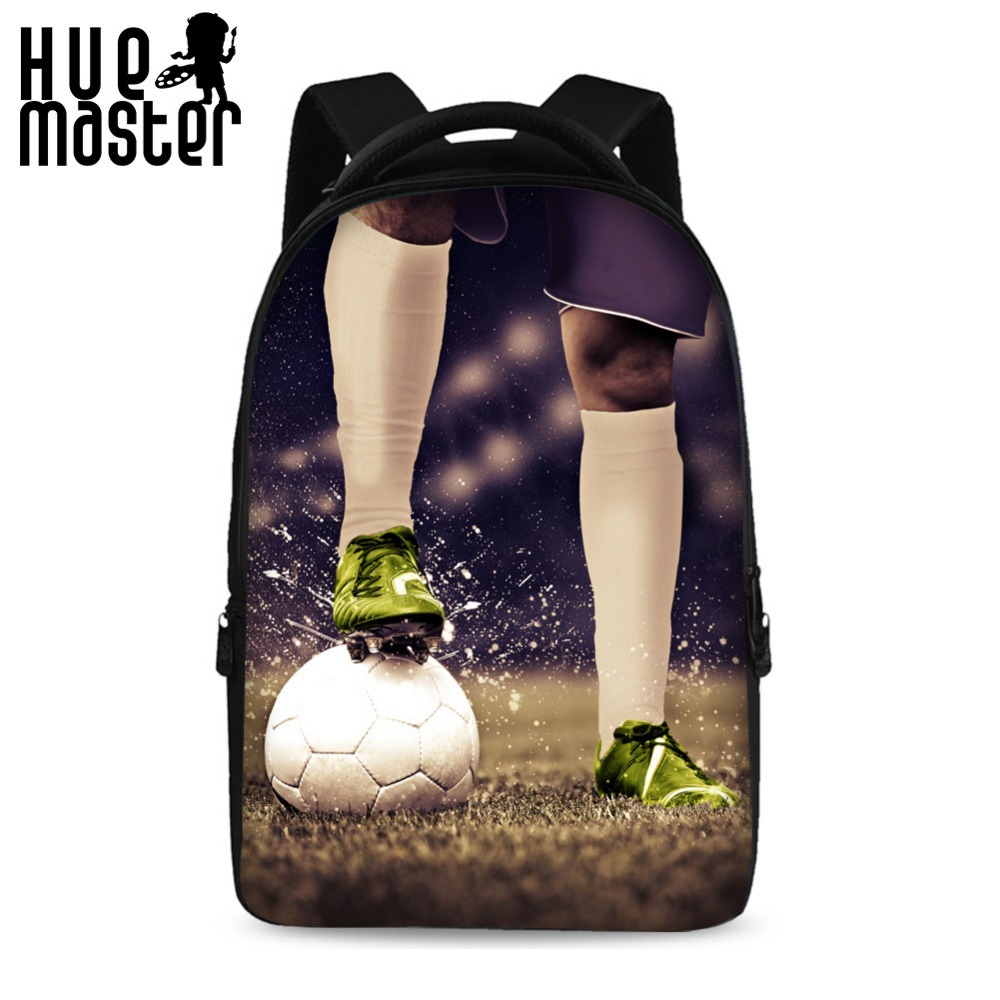 HUE MASTER 3D imprimer balle série sac à dos hommes 17 pouces haute capacité sacs de loisirs épaissi matériel intégré velours sacs pour ordinateur portable