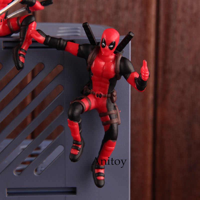 Marvel Legends X-men Deadpool Mini PVC Figura Brinquedos Quentes 4 Deadpool Brinquedo Do Carro Decoração de Casa de Boneca com Ímã pçs/set 8.5 centímetros
