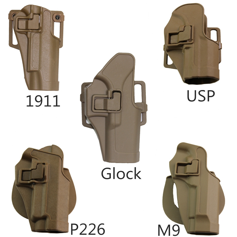 цена Hunting Gun Holster Right Hand Tactical Airsoft Combat Gun Pistol Holster for GL 17/USP/Colt 1911/ M9/SIG P226