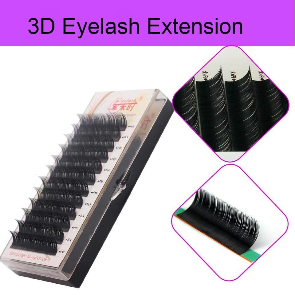 NEWCOME All Sizes Natural Long Korea Silk Eyelash Extension Handmade Eye Lashes 3D Individual Volume Lashes Free Shipping