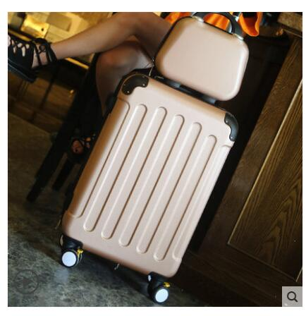 Brand 20 inch 24 inch rolling luggage Case Spinner Case Trolley Suitcase Women Travel Luggage Suitcase Boarding wheeled Case-in Travel Bags from Luggage & Bags    3