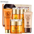 BIOAOUA Brand Miracle Horse Oil 5pcs Skin Care Set Facial Cream+Lotion +Toner +Cleanser +CC Cream+ Essence Emulsion Cosmetic kit