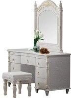 Мебель для спальни комод столик с зеркало 7 ящиков и стул современный стиль KD упакованы деревянные материалы
