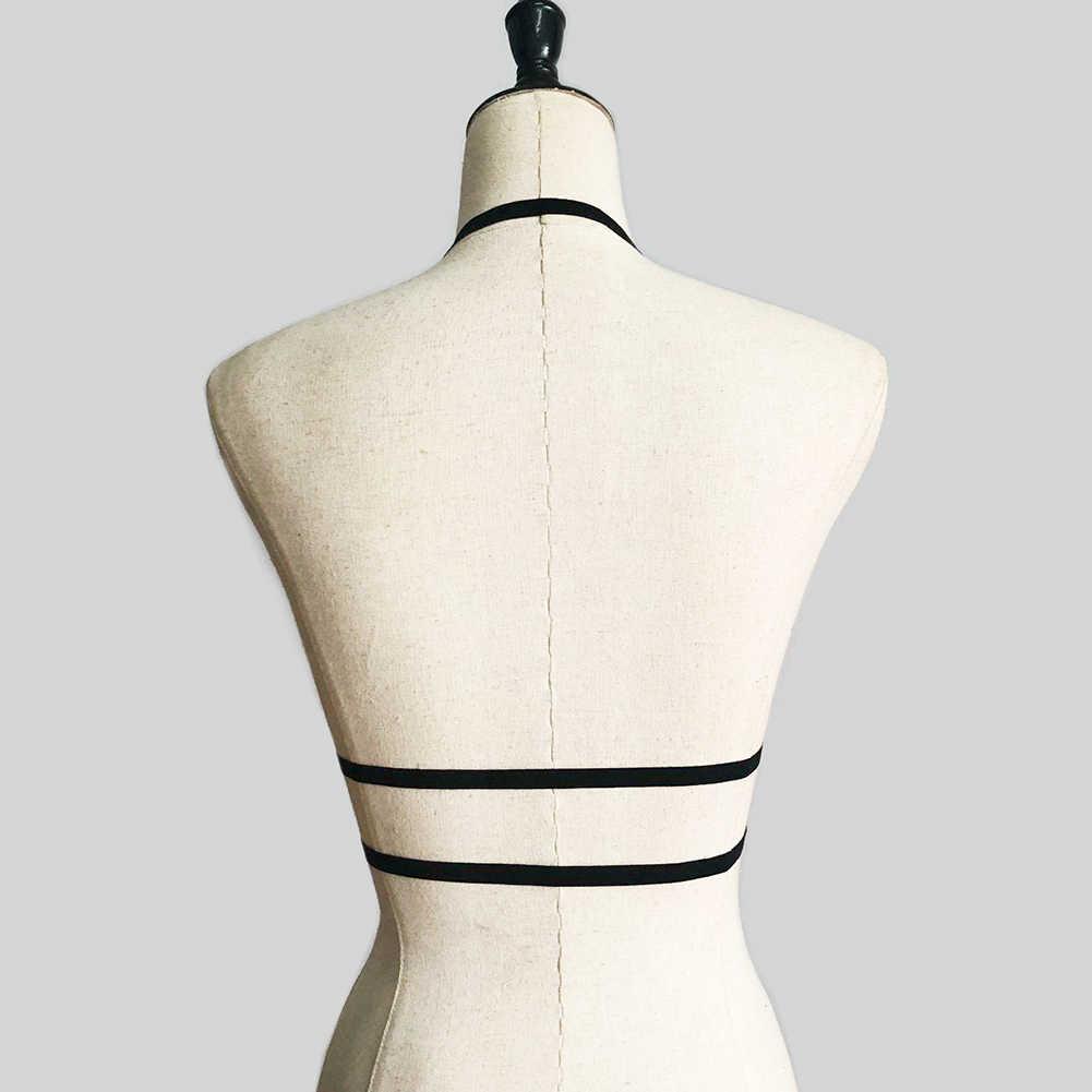 Hot Sexy Women Elastic Band Club Bar Costume Halter Hollowed Bandage Bras Underwear